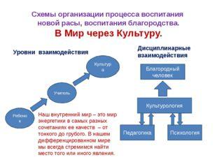 Схемы организации процесса воспитания новой расы, воспитания благородства. В