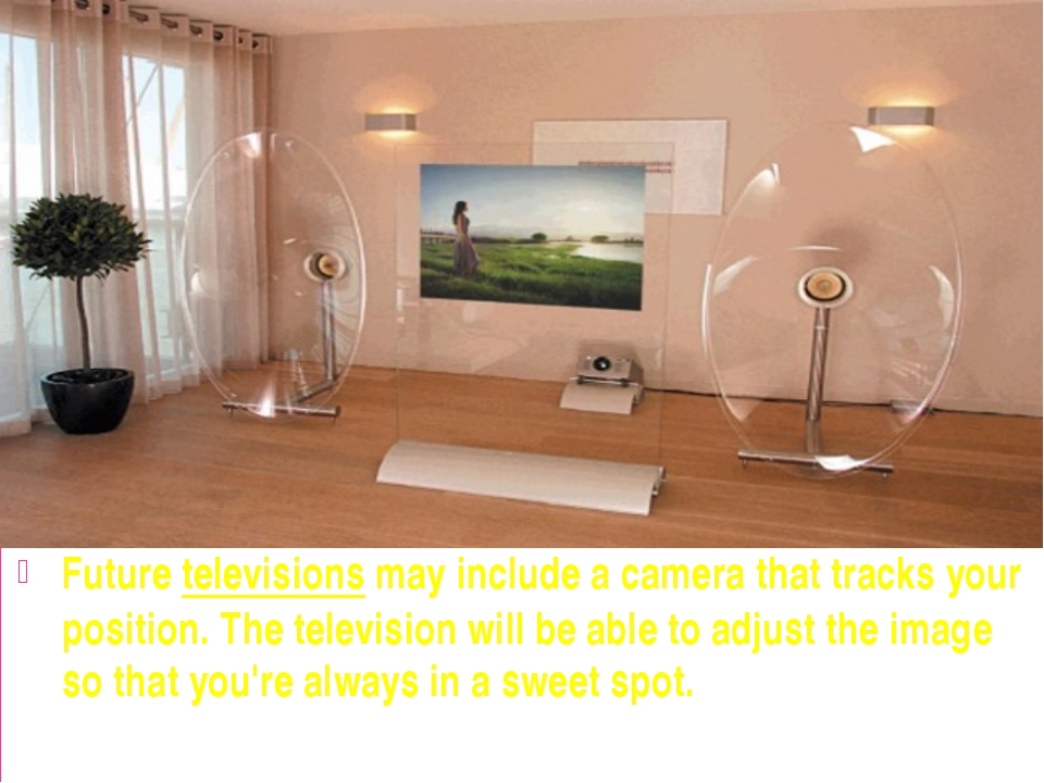 Future televisions may include a camera that tracks your position. The telev...
