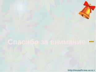 Спасибо за внимание ! http://musafirova.ucoz.ru