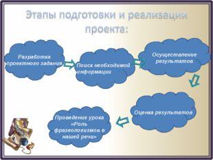 Разработка проектного задания Поиск необходимой информации Осуществление резу