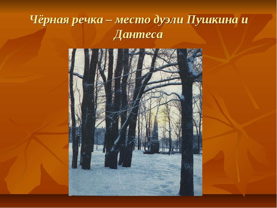 Чёрная речка – место дуэли Пушкина и Дантеса