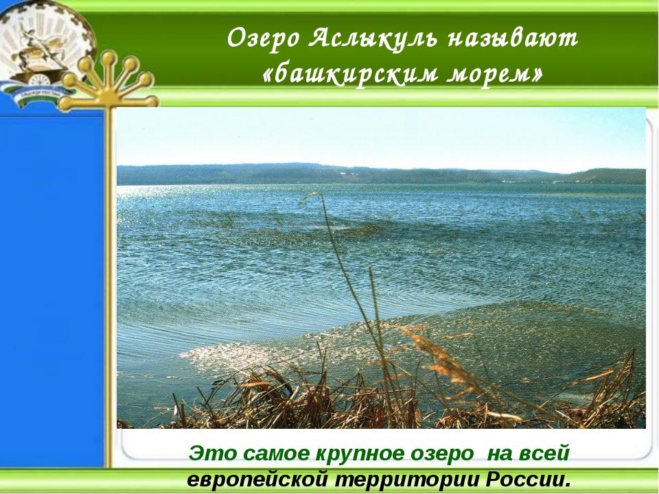 Озеро Аслыкуль называют «башкирским морем» Это самое крупное озеро на всей ев...