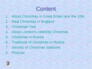 Content About Christmas in Great Britain and the USA Real Christmas in Englan