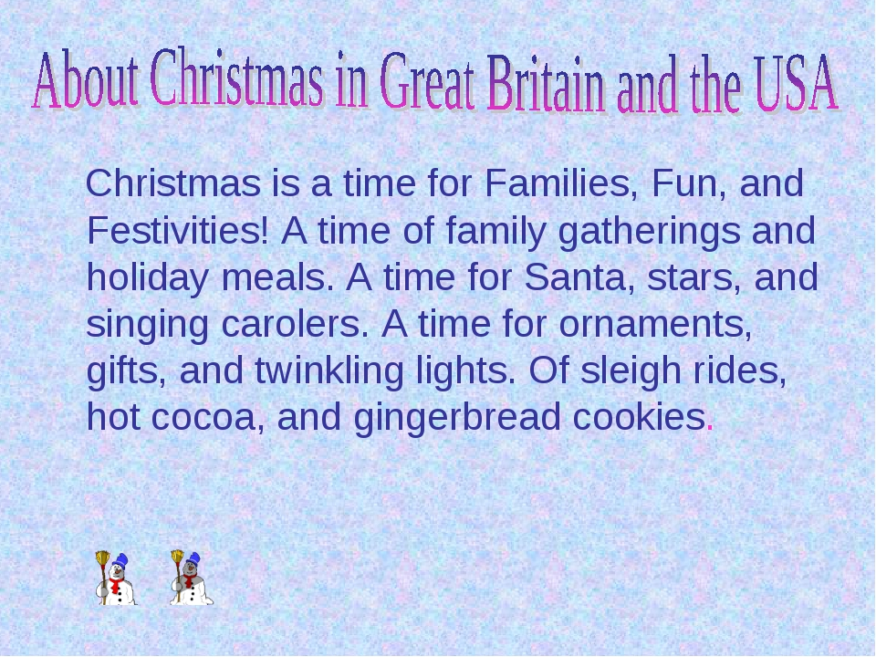 Christmas is a time for Families, Fun, and Festivities! A time of family gat...