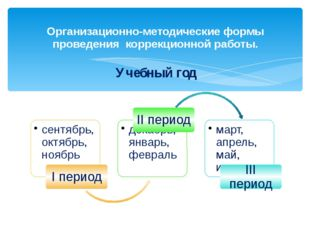 Организационно-методические формы проведения коррекционной работы. Учебный год