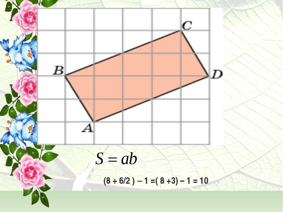 (8 + 6/2 ) – 1 =( 8 +3) – 1 = 10
