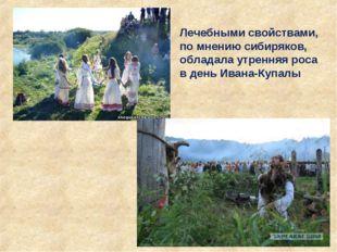 Лечебными свойствами, по мнению сибиряков, обладала утренняя роса в день Иван