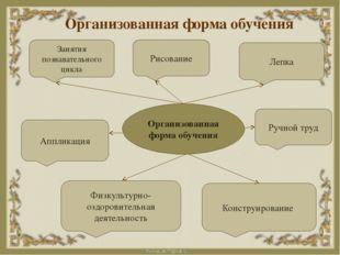 Организованная форма обучения Физкультурно-оздоровительная деятельность Аппли