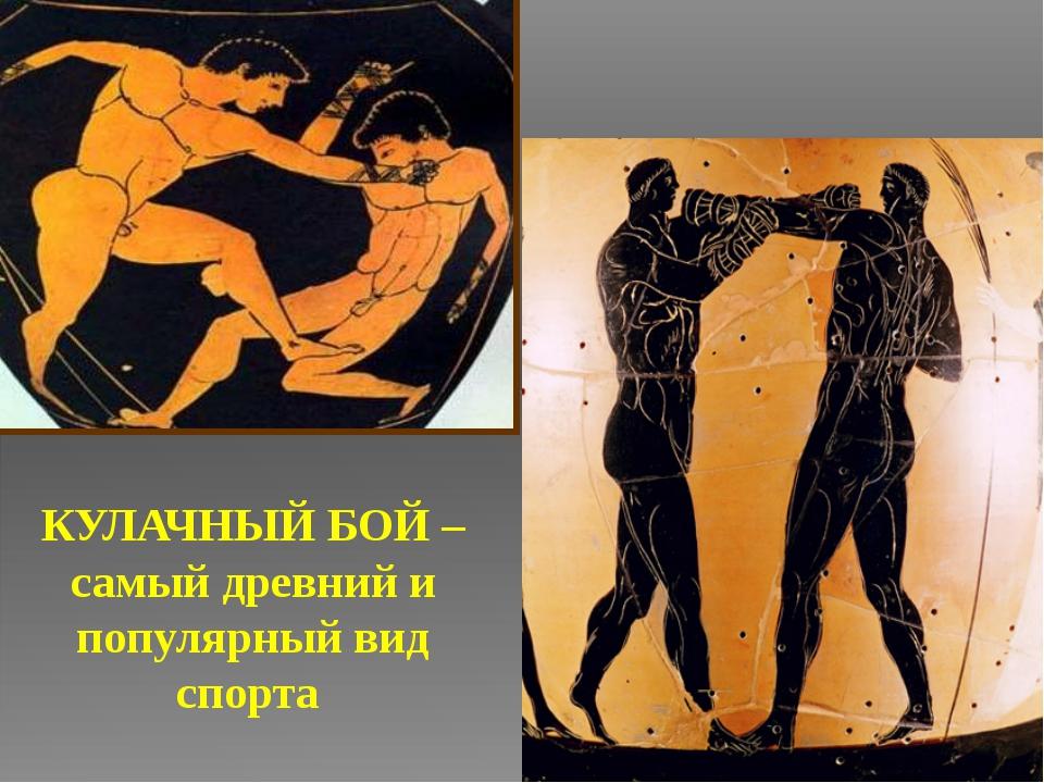 КУЛАЧНЫЙ БОЙ – самый древний и популярный вид спорта