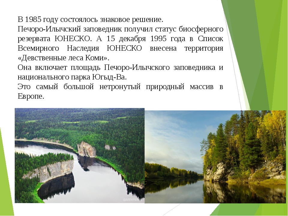 В 1985 году состоялось знаковое решение. Печоро-Илычский заповедник получил с...