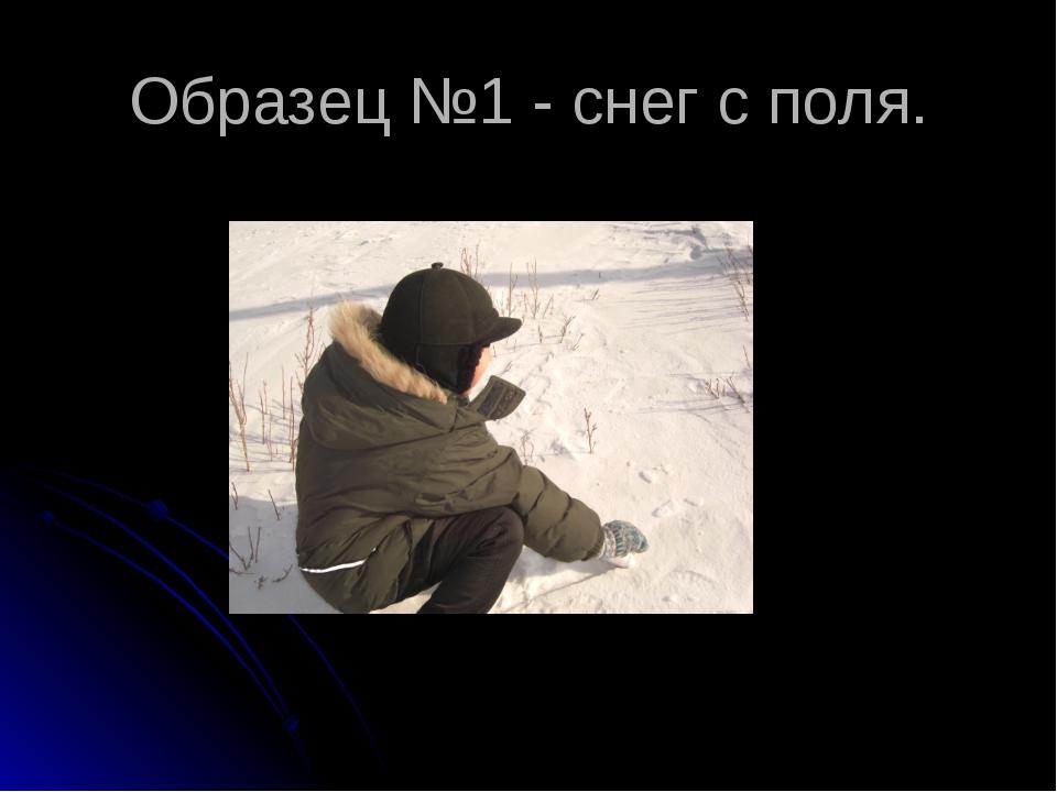Образец №1 - снег с поля.