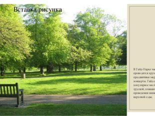 В Гайд-Парке часто проводятся крупные праздничные мероприятия и концерты.Гай