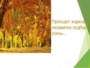 Проходит жаркое лето и незаметно подбирается осень...