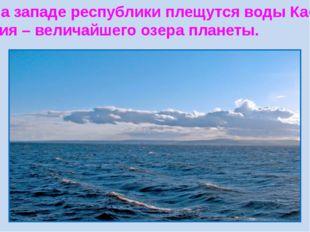 На западе республики плещутся воды Кас- пия – величайшего озера планеты.