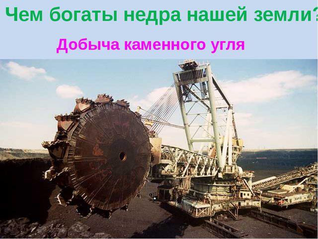 Добыча каменного угля Чем богаты недра нашей земли?
