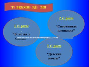 """1 төркем """"В гостях у сказки"""" 3 төркем """"Детские мечты"""" 2 төркем """"Спортивная пл"""