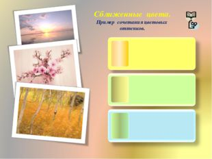 Сближенные цвета. Пример сочетания цветовых оттенков.
