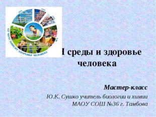 pH среды и здоровье человека Мастер-класс Ю.К. Сушко учитель биологии и химии