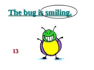 The bug is smiling. 13
