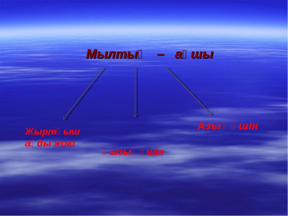 Мылтық – аңшы Жыртқыш аңды жою Қызық үшін Азық үшін