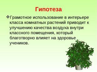 Гипотеза Грамотное использование в интерьере класса комнатных растений привод