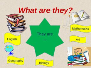 What are they? Geography English Mathematics They are …. Art Biology