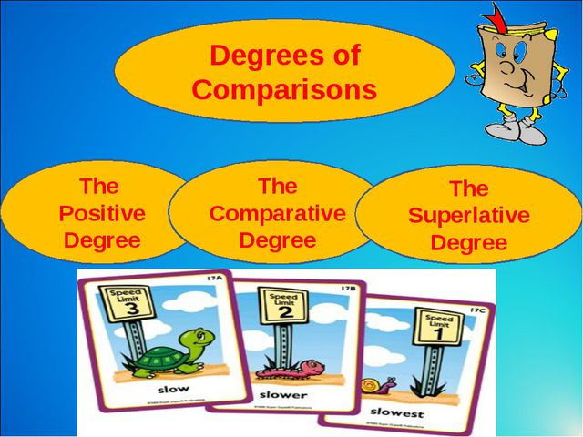 Degrees of Comparisons The Positive Degree The Comparative Degree The Superla...