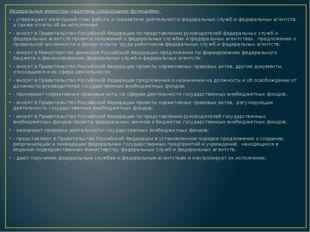Федеральные министры наделены следующими функциями: - утверждают ежегодный п