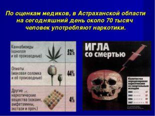 По оценкам медиков, в Астраханской области на сегодняшний день около 70 тысяч