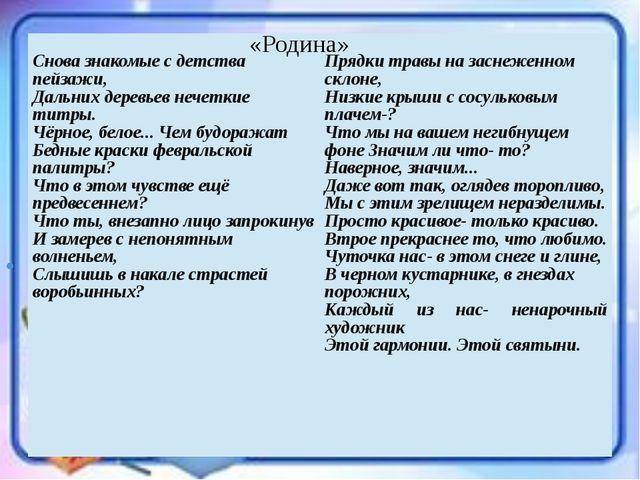 . «Родина» Сновазнакомые с детства пейзажи, Дальнихдеревьев нечеткиетитры. Ч...