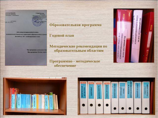 Образовательная программа Годовой план Методические рекомендации по образоват...