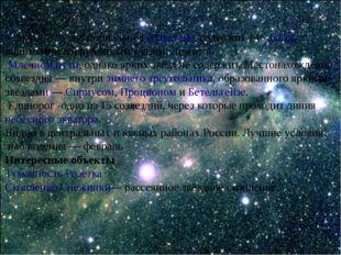 Единоро́г- экваториальноесозвездие. содержит 146звёзд, видимых невооружён