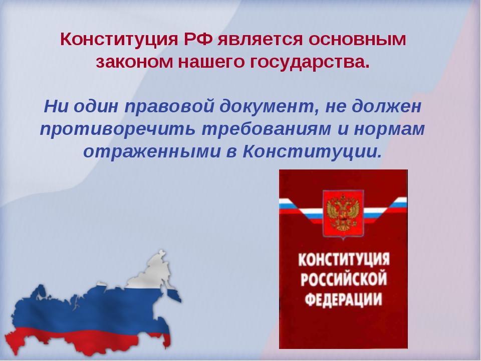 Конституция РФ является основным законом нашего государства. Ни один правовой...