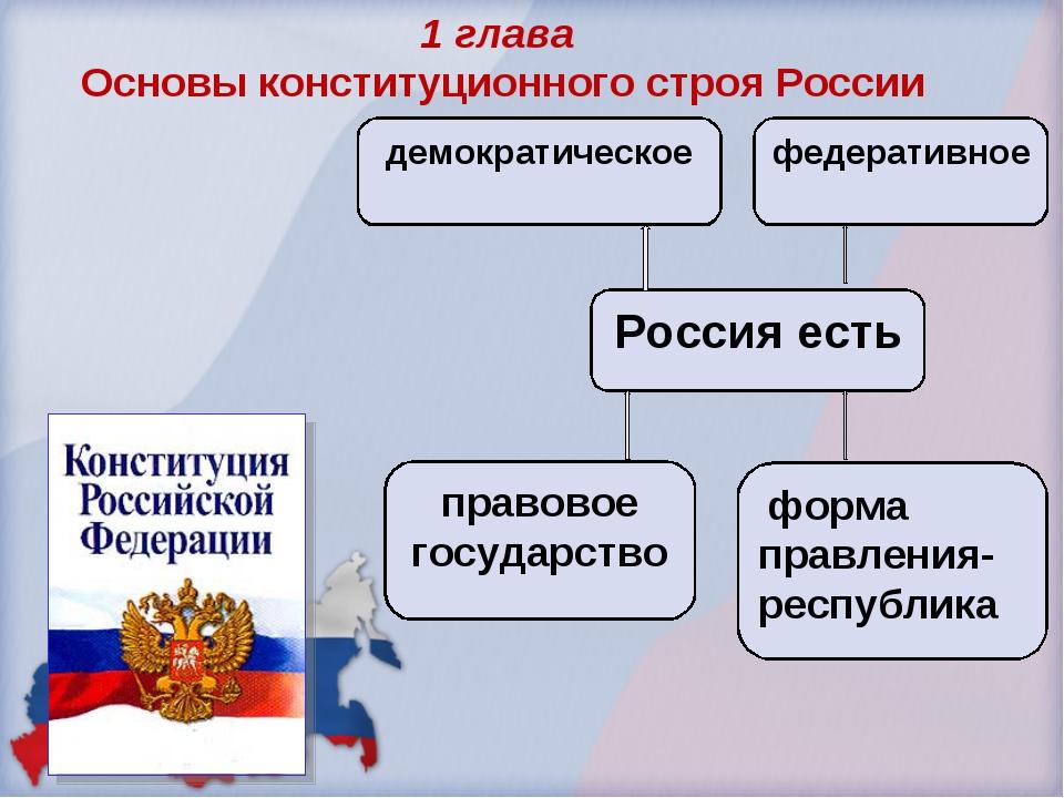 Россия есть правовое государство форма правления- республика демократическое...