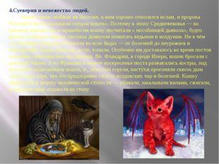 4.Суеверия и невежество людей. Кошек очень любили на Востоке, к ним хорошо от