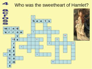 Who was the sweetheart of Hamlet?