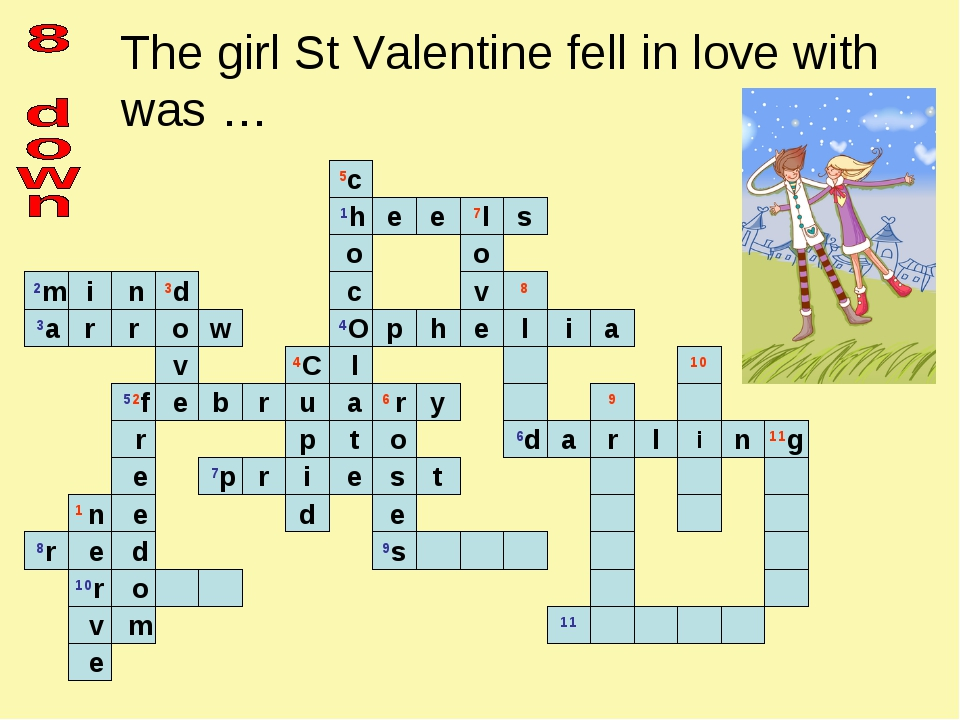 The girl St Valentine fell in love with was …