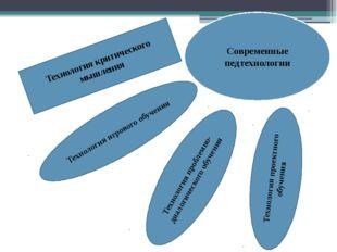 Современные педтехнологии Технология критического мышления Технология проблем