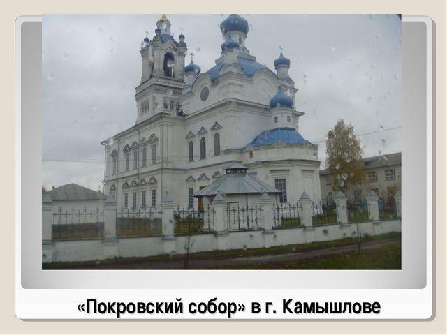 «Покровский собор» в г. Камышлове