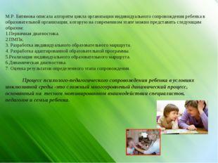 М.Р. Битянова описала алгоритм цикла организации индивидуального сопровождени