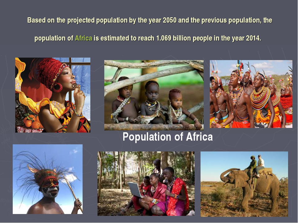 Based on the projected population by the year 2050 and the previous populatio...