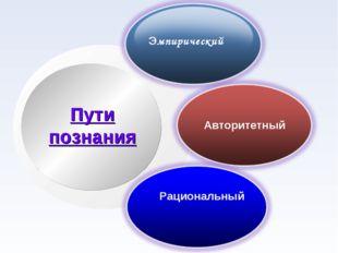 Рациональный Пути познания Эмпирический Авторитетный
