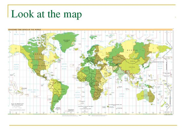 Look at the map