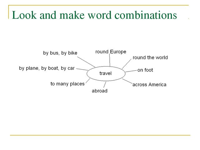 Look and make word combinations
