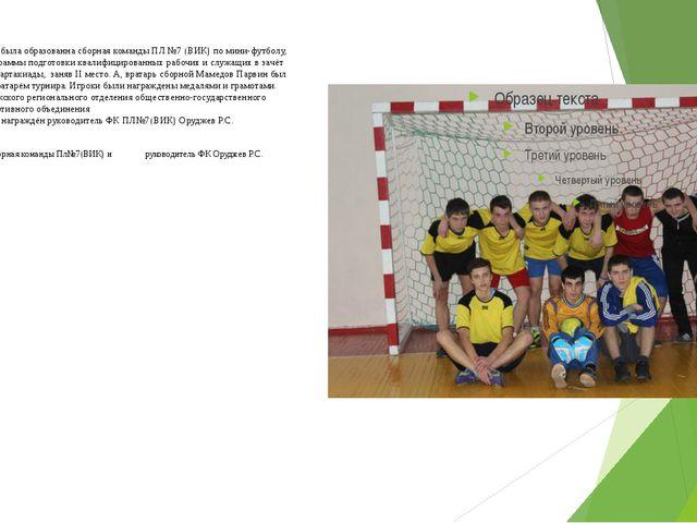 По итогам турнира была образованна сборная команды ПЛ №7 (ВИК) по мини-футбол...