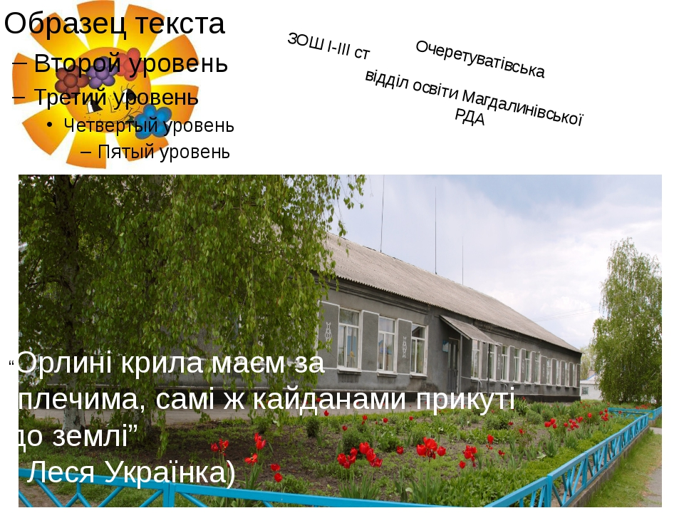 """Очеретуватівська ЗОШ І-ІІІ ст відділ освіти Магдалинівської РДА """"Орлині крила..."""