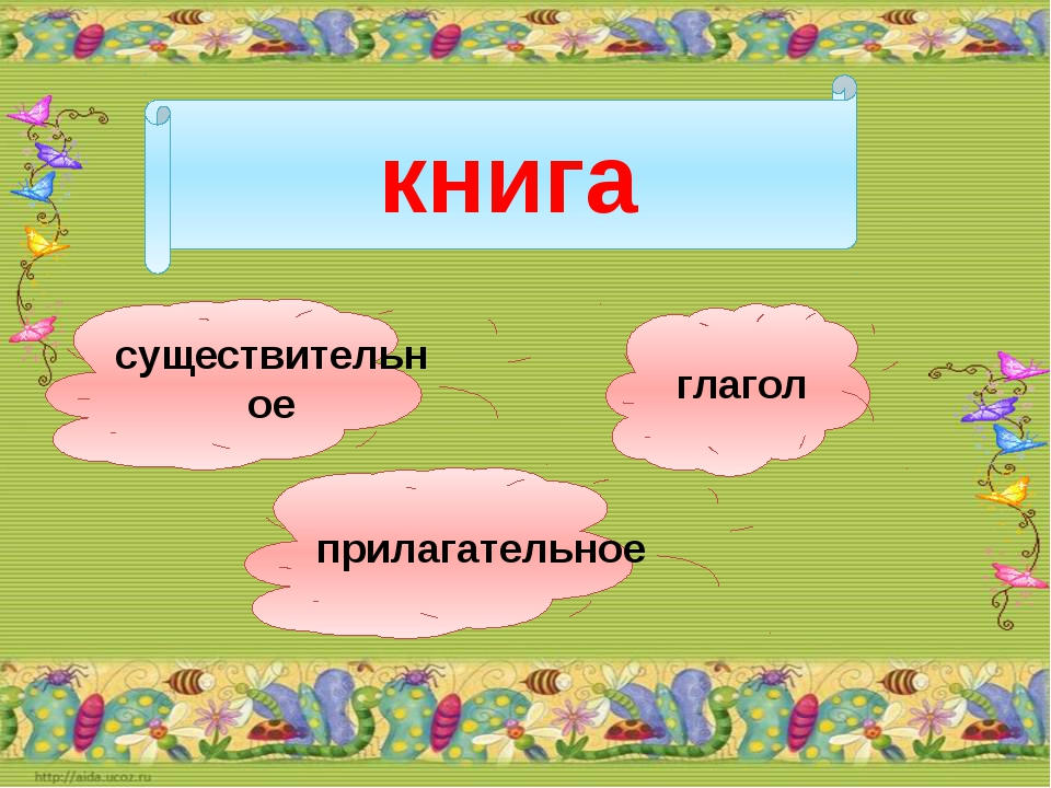 книга существительное прилагательное глагол