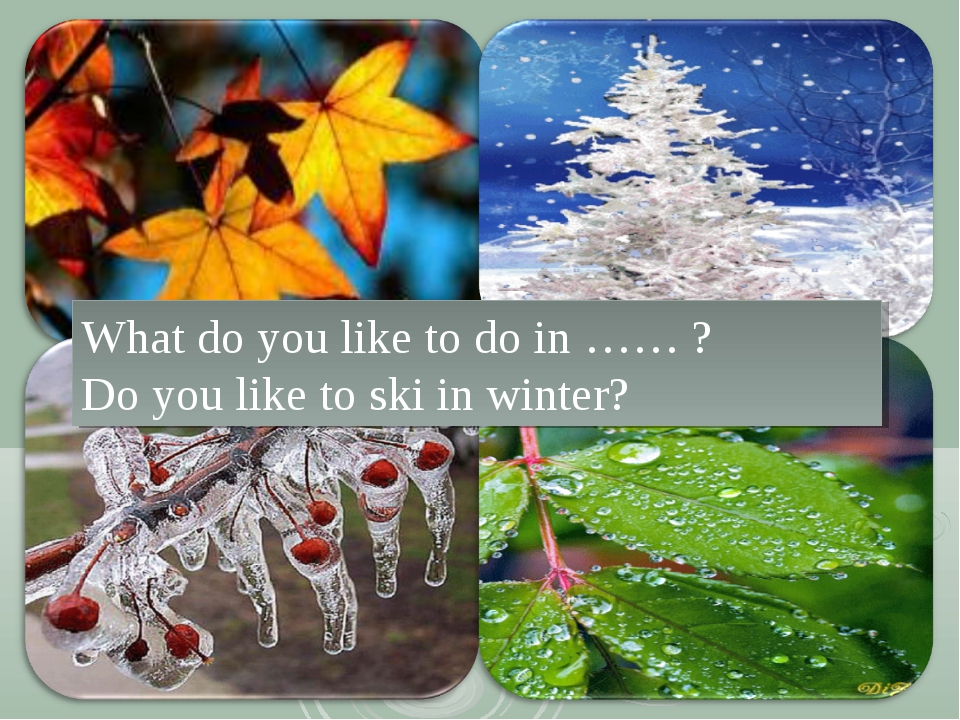 What do you like to do in …… ? Do you like to ski in winter?