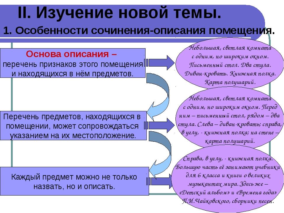 Конспект урока 6 класс описание помещения сложный план. гдз