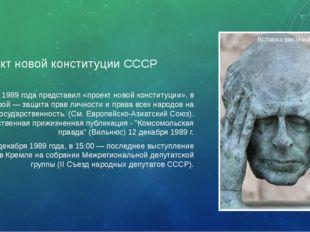 Проект новой конституции СССР В ноябре 1989 года представил «проект новой кон